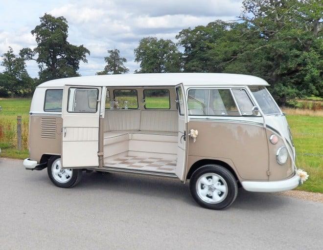 Split Screen Wedding Camper Hire Northamptonshire