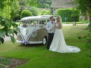VW wedding camper sunroof open