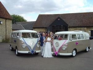 Abbe and Jodi split screen wedding campervans