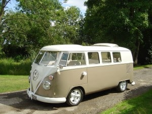 VW splitscreen wedding camper Northampton